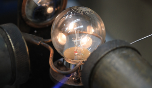 Light bulb manufacture